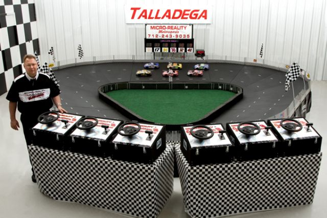 Six Player Micro-Reality Motorsports Racing Track with Scoreboard Lap Counter